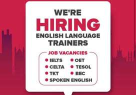 We're hiring Ielts trainers