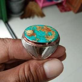 Batu pirus persia natural porselin istimewa..motif mban perak swasa