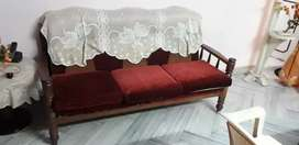 3 seater Sofaset with 2 single chars