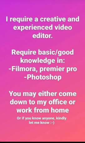 Want video editor, work is simple.