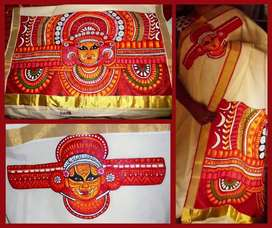 Fabric painting, embroidery, stitching,