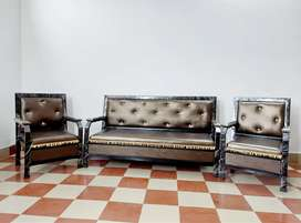 Good Quality Sofa 5 Seater with good Cushion and Rexine Free Delivery