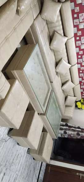 Sofa set with tables