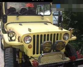 Willy yellow modified jeep