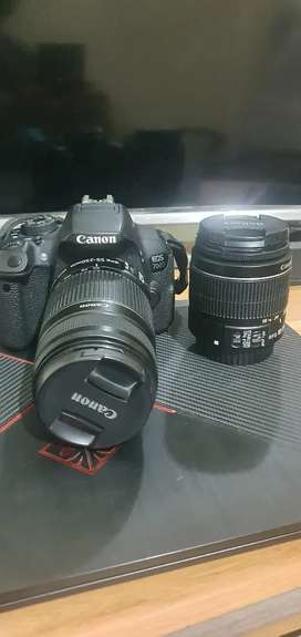 Canon 700d camera 18-55 and 55-250 lens