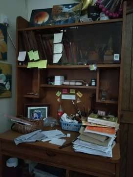 Study Table /  Rack , upper shelf with glass