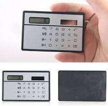 Kalkulator Mini Ukuran Kartu - Unik dan Bertenaga Surya