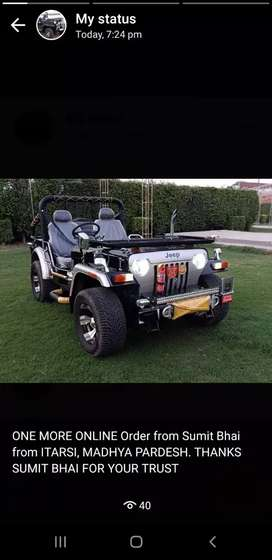 Open Modified Classic Jeep on Order