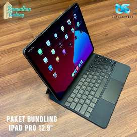 "iPad Pro 2020 12.9"" WiFi Cell 512GB Resmi + Magic Keyboard Second"