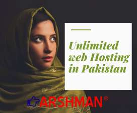 Get unlimited web hosting with free domain with arshman dot pk