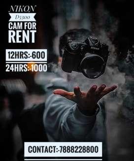 Dslr camera with short n long lens only for *RENT*