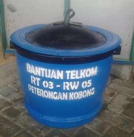 Tempat Sampah Gentong Potongan