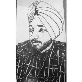 Pen Portrait (Hand Made)