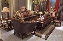Set Sofa Tamu Ukiran Mewah