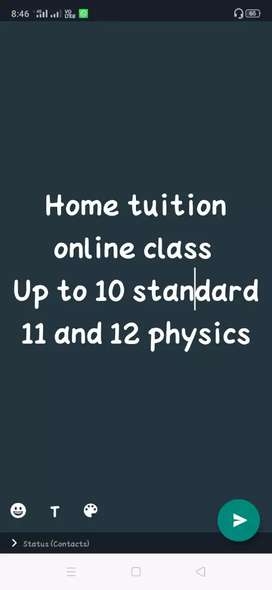 Home tuition and online class
