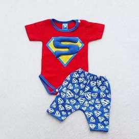 Baju satu set spiderman