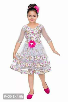 Party Wear Printed Dresses For Girls