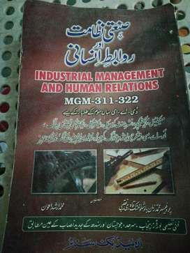 Industrial management and human relations