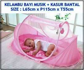 Kasur dan kelambu bayi merek shenar