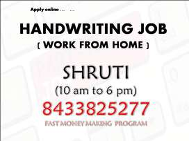 Work from home (Handwriting Note making work )