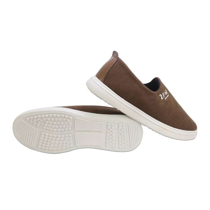 Men Full Canvas Shoes - Brown - Breathable Soft Sole Light Walking 0