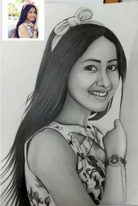 Pencil sketch only in 150 rupees