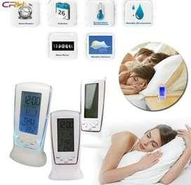 Jam Alarm Digital Clock LED Temperatur Ukur Suhu Kalender Display