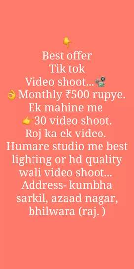 Best offer Tik tok video shoot