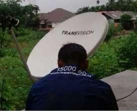 Parabola murah Transvision HD Pekanbaru Murah gratis biaya pasang