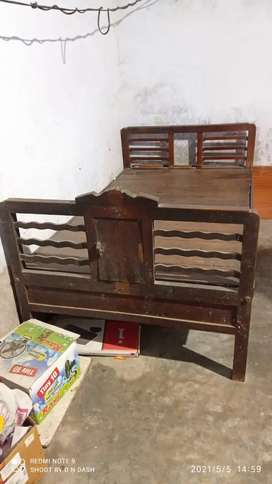 Bed and wardrobe available in good condition