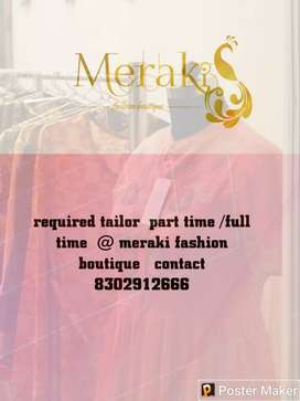 Required a trained tailor for boutique  in phulera