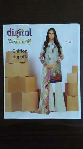 3 Pcs Unstitch Chiffon Dupatta Lawn collection (Free Delivery Charges)