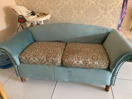 Mint green sofas