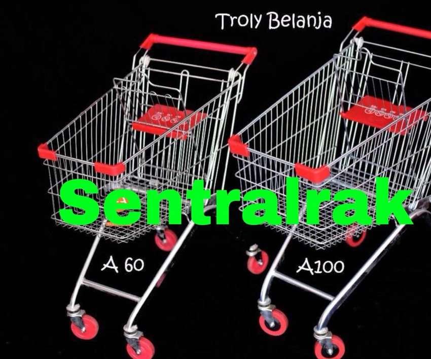 Trolley supermarket roda piu kuat 60 100 liter pabrik 0