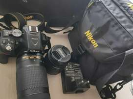 NIKON d5300 with two lenses with good condition