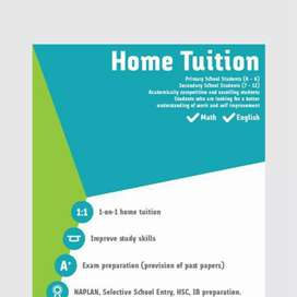 Tuition for English, Art subjects ,biology