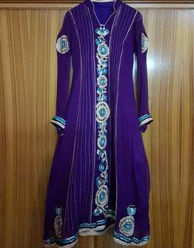 Purple  Pure Chiffon  dress