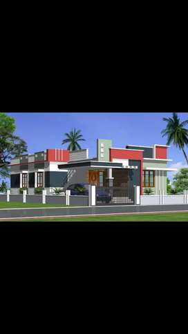 4.80 cents land, 2bhk negotiable price