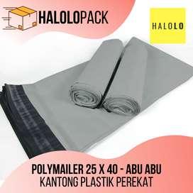 Plastik Perekat Kantong Polymailer 25 x 40 cm Poly Mailer Abu-abu