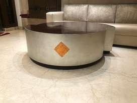 Center table custom made from designer