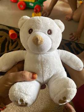 White teddy bear soft toy mothercare brand
