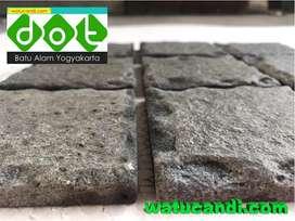 Batu alam basalt alami permukaan datar