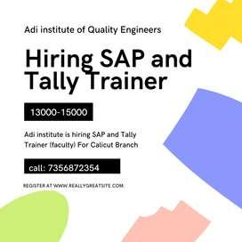 Hiring SAP,Tally Trainer