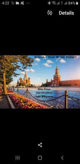 Russia work permit available