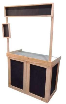 Steling Stand Jualan Booth Portable Bongkar Pasang, Kayu Jati Belanda