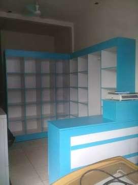 Furniture - Paket Rak laundry plus Meja kasir