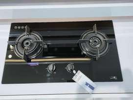 Kompor tanam LINEA 2 tungku bisa cicilan tanpa CC proses cepat 3 menit