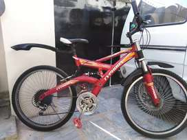 Typhoon Bicycle 26inch With Dual Suspension,Gears and Front Disk Brake
