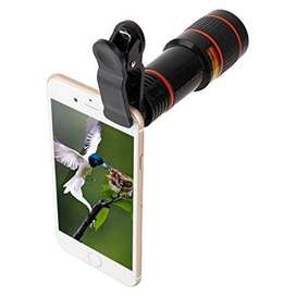12X Optical Zoom Telescope Lens Clip On Cell Phone Camera Lens