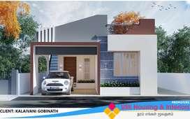 23.5Lakhs IIBhk,Individual villa sale,@Palladam road,Tirupur.
